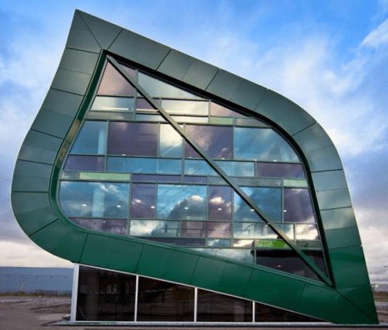 Aluminium Vliesgevel - Aluvo - Apeldoorn Ecofactorij